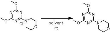 DMT-MMの溶媒分解