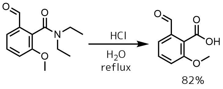 アミドの酸加水分解例1