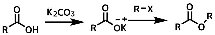 アルキルはライドによるエステル合成