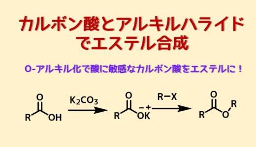 カルボン酸とアルキル化剤・ハロゲン化アルキルによるエステル合成