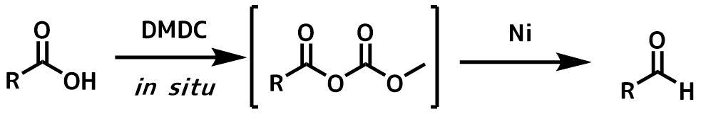 ニッケル触媒下のカルボン酸のアルデヒドの還元概要