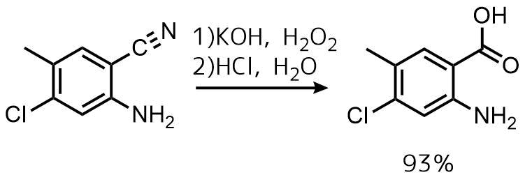 ニトリルの酸加水分解例1過酸化水素