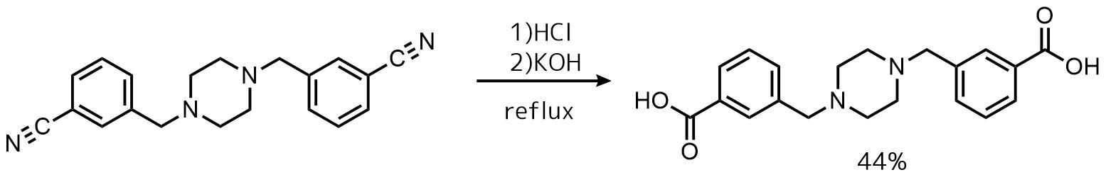 ニトリルの酸加水分解例1