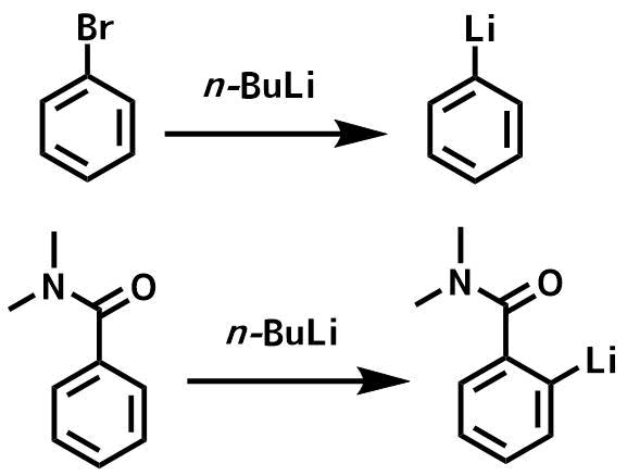 ハロゲン金属交換とオルトリチオ化