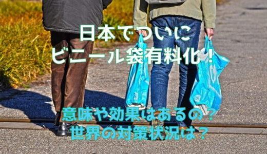 ビニール袋の有料化が日本で!意味や効果は?アメリカの対策状況は?