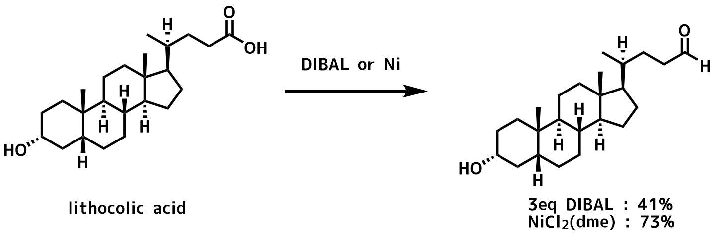リトコール酸の還元における有用性