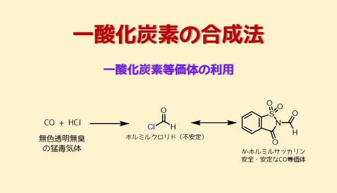 一酸化炭素の合成や等価体