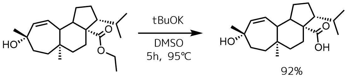 塩基エステルの加水分解例3