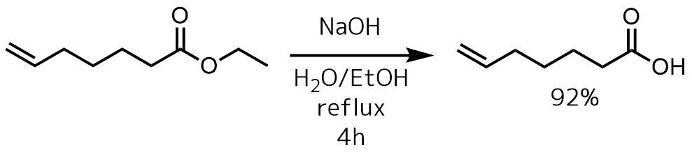 塩基エステルの加水分解例1