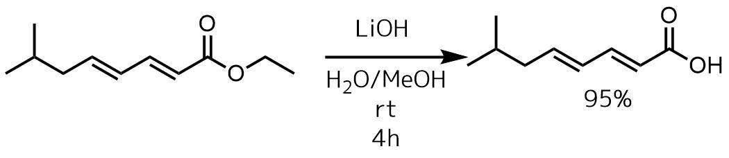 塩基エステルの加水分解例2