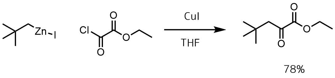 酸ハロゲン化物と有機ハロゲン化亜鉛との反応