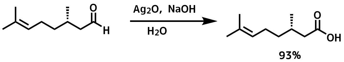 酸化銀を使ったアルデヒドの酸化反応