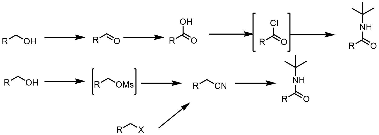 N-tertブチルアミドの合成経路