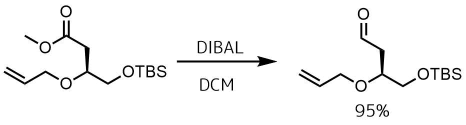 DIBALによるアルデヒドの還元