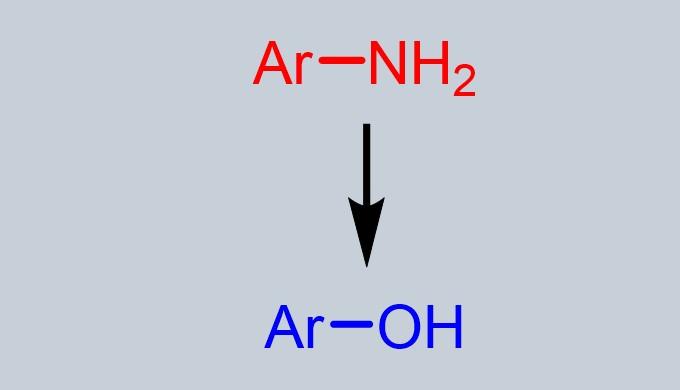 アニリンからフェノール合成