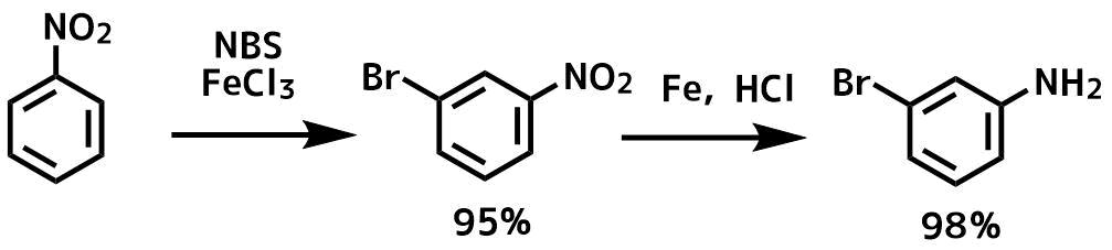 アニリンメタ位の臭素化