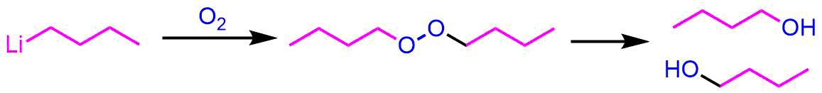 アルキルリチウムの酸化