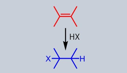 アルケンのハロゲン化 ハロゲン化水素によるモノハロゲン化