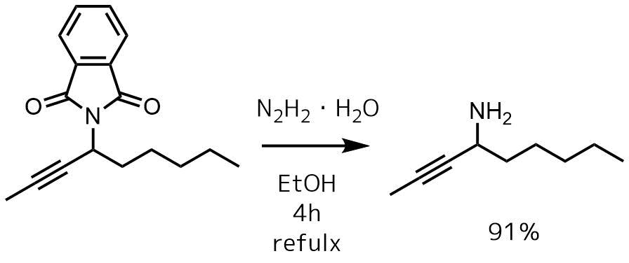フタルイミド分解反応例