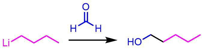 ブチルリチウムをアルコールに変換