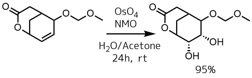 四酸化オスミウムの反応例1触媒量NMO