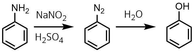 芳香族アミンからフェノールの合成