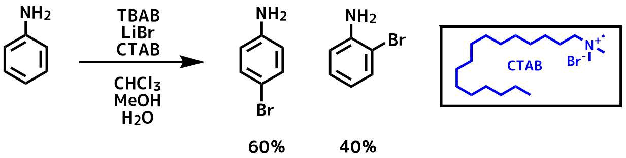 CTABを使ったオルト選択的な臭素化反応