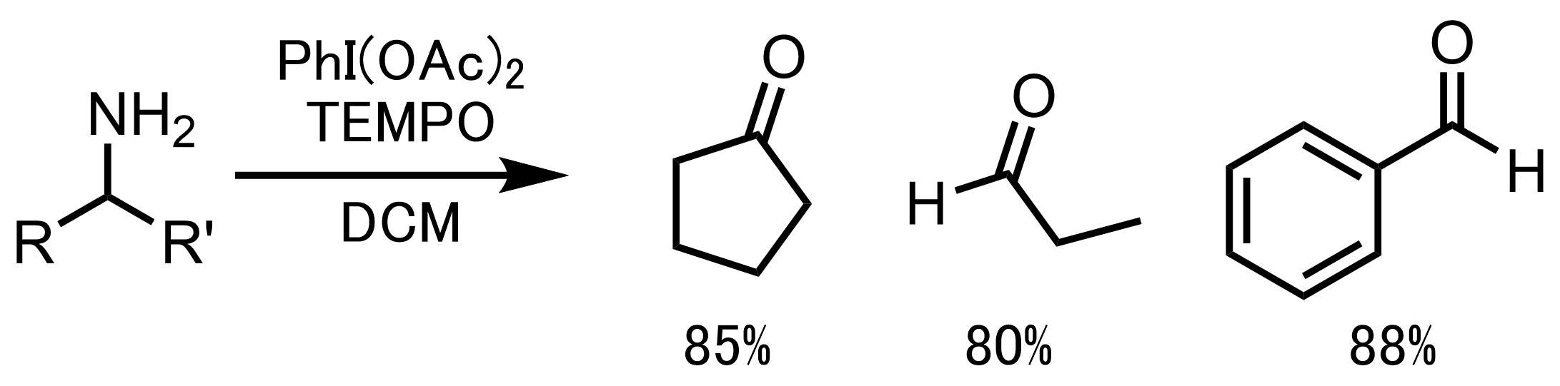 TEMPO酸化によりケトン体を合成