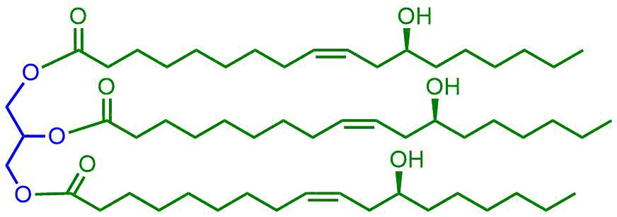 ひまし油の主構造