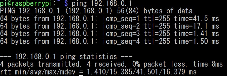 ping on bash