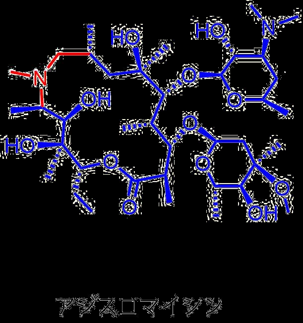 アジスロマイシンの構造