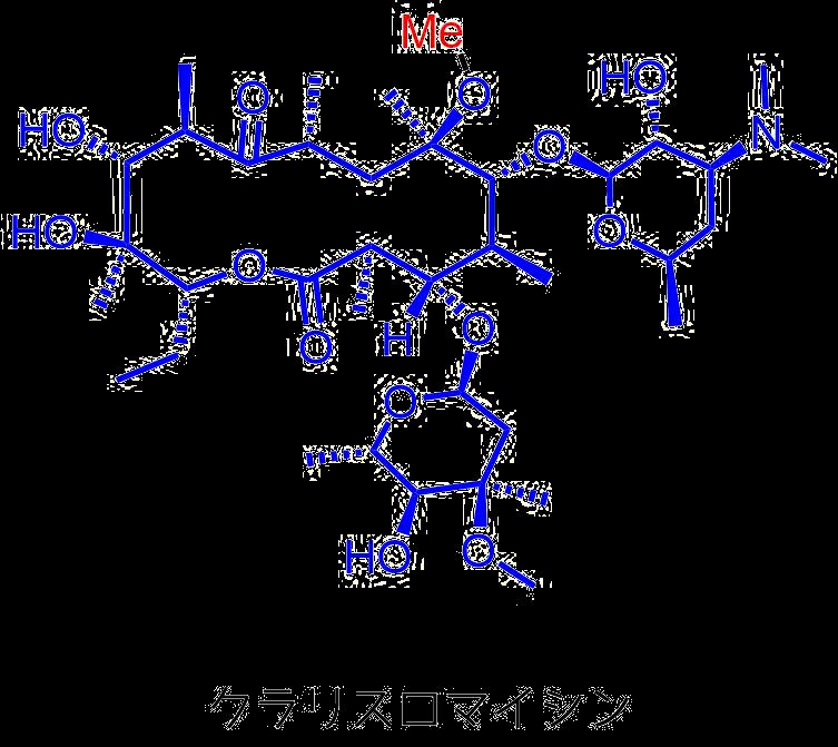 クラリスロマイシンの構造