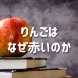 リンゴが赤いのはなぜ?