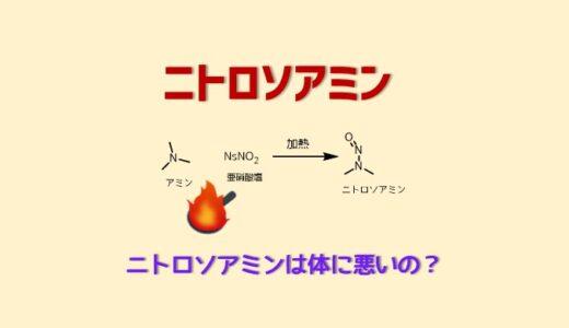 ニトロソアミンの化学 発がん性のある危険な物質の化学的性質
