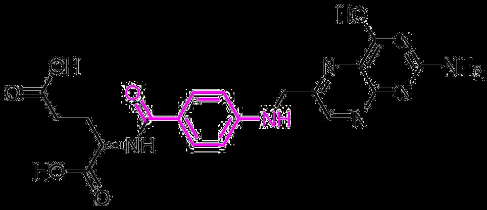 葉酸の構造式
