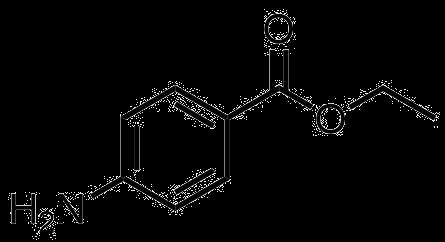 4-アミノ安息香酸エチルの構造式