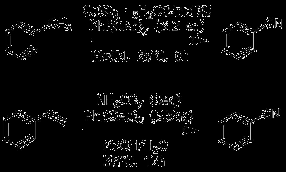 炭化水素へのCN直接導入